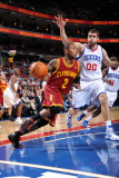 Cleveland Cavaliers v Philadelphia 76ers: Mo Williams and Spencer Hawes Photographic Print by Jesse D. Garrabrant