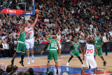 Boston Celtics v Philadelphia 76ers: Spencer Hawes and Glen Davis Photographic Print by Jesse D. Garrabrant