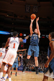 Minnesota Timberwolves v New York Knicks: Kevin Love and Amar'e Stoudemire Photographic Print by Nathaniel S. Butler