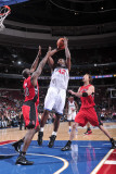 Toronto Raptors v Philadelphia 76ers: Elton Brand and Reggie Evans Photographic Print by David Dow