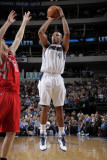 Houston Rockets v Dallas Mavericks: Caron Butler and Chase Budinger Photographic Print by Glenn James