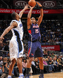 Atlanta Hawks v Orlando Magic: Al Horford and Rashard Lewis Photographic Print by Fernando Medina