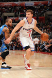Orlando Magic v Los Angeles Clippers: Blake Griffin and Jameer Nelson Photographic Print by Noah Graham