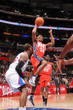 New Jersey Nets v Los Angeles Clippers: Ben Uzoh Photographic Print by Noah Graham