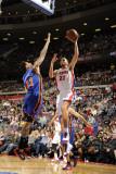 New York Knicks v Detroit Pistons: Tayshaun Prince and Wilson Chandler Photographic Print by Allen Einstein