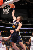 Utah Jazz v Los Angeles Clippers: Krylo Fesenko Photographic Print by Noah Graham