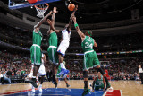 Boston Celtics v Philadelphia 76ers: Jrue Holiday and Paul Pierce Photographic Print by Jesse D. Garrabrant