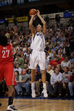 Houston Rockets v Dallas Mavericks: Dirk Nowitzki and Jordan Hill Photographic Print by Danny Bollinger
