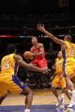 Chicago Bulls v Los Angeles Lakers: Derrick Rose, Ron Artest, Derek Fisher and Shannon Brown Photographic Print by Noah Graham