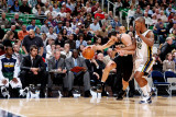 San Antonio Spurs v Utah Jazz: Raja Bell and Manu Ginobili Photographic Print by Melissa Majchrzak