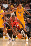 Chicago Bulls v Los Angeles Lakers: Ronnie Brewer and Matt Barnes Photographic Print by Andrew Bernstein