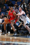 Los Angeles Clippers v Minnesota Timberwolves: Jarron Collins and Kevin Love Photographic Print by David Sherman