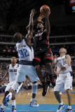 Miami Heat v Dallas Mavericks: LeBron James and DeShawn Stevenson Photographic Print by Glenn James