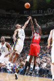 New Jersey Nets v Utah Jazz: Anthony Morrow and Ronnie Price Photographic Print by Melissa Majchrzak
