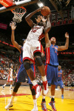 Detroit Pistons v Miami Heat: Joel Anthony and Charlie Villanueva Photographic Print by Issac Baldizon