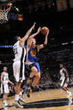 Golden State Warriors v San Antonio Spurs: David Lee and Tim Duncan Photographic Print by D. Clarke Evans