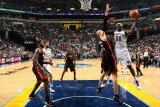 Miami Heat v Memphis Grizzlies: Zach Randolph and Zydrunas Ilgauskas Photographic Print by Joe Murphy