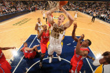 Los Angeles Clippers v Indiana Pacers: Tyler Hansbrough and Eric Bledsoe Photographic Print by Ron Hoskins