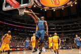 Washington Wizards v Los Angeles Lakers: Gilbert Arenas Photographic Print by Andrew Bernstein