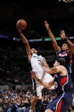 Atlanta Hawks v San Antonio Spurs: George Hill, Mike Bibby and Al Horford Photographic Print by D. Clarke Evans