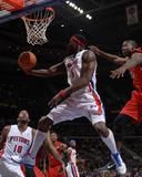 Toronto Raptors v Detroit Pistons: Ben Wallace and Ed Davis Photographic Print by Allen Einstein