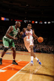 Boston Celtics v New York Knicks: Amar'e Stoudemire and Kevin Garnett Photographic Print by Lou Capozzola