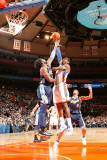 Denver Nuggets v New York Knicks: Amar'e Stoudemire and Nene Photographic Print by Nathaniel S. Butler