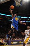 Golden State Warriors v Los Angeles Lakers: Dorell Wright and Lamar Odom Photographic Print by Noah Graham