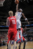 Houston Rockets v Dallas Mavericks: Jason Terry and Chase Budinger Photographic Print by Glenn James