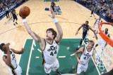 Memphis Grizzlies v Utah Jazz: Kyrylo Fesenko Photographic Print by Melissa Majchrzak