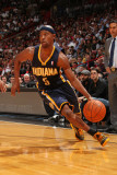 Indiana Pacers v Miami Heat: T.J. Ford Photographic Print by Victor Baldizon