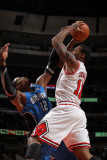 Orlando Magic v Chicago Bulls: James Johnson and Dwight Howard Photographic Print by Gary Dineen
