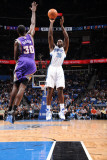 Phoenix Suns v Orlando Magic: Brandon Bass and Earl Barron Photographic Print by Andrew Bernstein