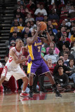 Los Angeles Lakers v Houston Rockets: Lamar Odom and Shane Battier Photographic Print by Bill Baptist