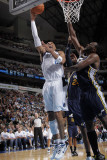 Utah Jazz v Dallas Mavericks: Shawn Marion and Al Jefferson Photographic Print by Glenn James