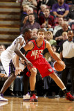 New Jersey Nets v Sacramento Kings: Brook Lopez and Samuel Dalembert Photographie par Don Smith