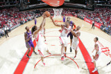 Phoenix Suns v Houston Rockets: Luis Scola and Shane Battier Photographic Print by Bill Baptist