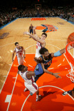 Denver Nuggets v New York Knicks: Nene, Amar'e Stoudemire and Danilo Gallinari Photographic Print by Nathaniel S. Butler