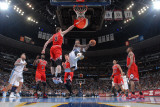 Chicago Bulls v Denver Nuggets: J.R. Smith and Omer Asik Photographic Print by Garrett Ellwood