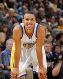 Detroit Pistons v Golden State Warriors: Stephen Curry Photographic Print by Rocky Widner
