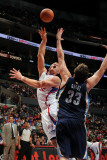 Memphis Grizzlies v Los Angeles Clippers: Blake Griffin and Marc Gasol Photographic Print by Noah Graham