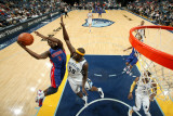 Detroit Pistons v Memphis Grizzlies: Rodney Stuckey and Zach Randolph Photographic Print by Joe Murphy