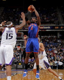 New York Knicks v Sacramento Kings: Amare Stoudemire and DeMarcus Cousins Photographic Print by Rocky Widner
