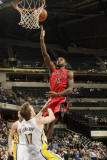 Toronto Raptors v Indiana Pacers: Amir Johnson and Mike Dunleavy Photographic Print by Ron Hoskins