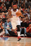 San Antonio Spurs v Los Angeles Clippers: Baron Davis Photographic Print by Andrew Bernstein
