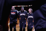 Denver Nuggets v Phoenix Suns: Grant Hill, Jason Richardson and Steve Nash Photographic Print by Christian Petersen