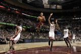 Miami Heat v Cleveland Cavaliers: Daniel Gibson, Mario Chalmers and James Jones Photographie par David Liam Kyle