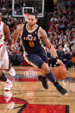 Utah Jazz v Portland Trail Blazers: Deron Williams Photographic Print by Sam Forencich