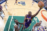 Los Angeles Lakers v Utah Jazz: Lamar Odom and Al Jefferson Photographic Print by Melissa Majchrzak