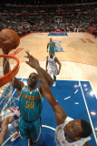 New Orleans Hornets v Los Angeles Clippers: Emeka Okafor and Al-Farouq Aminu Photographic Print by Andrew Bernstein
